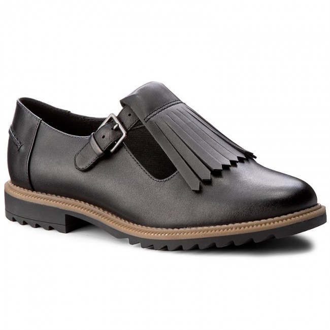 Halbschuhe CLARKS                                                    Griffin Mia 261156344 Black Leather