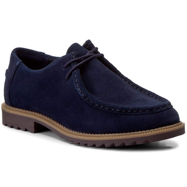 Mokassins CLARKS Griffin Mellow 261267144 Navy Suede