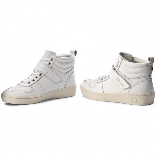 Haltbare Mode billige Schuhe Sneakers FLY LONDON-Midafly P143834000 White Werbe Schuhe