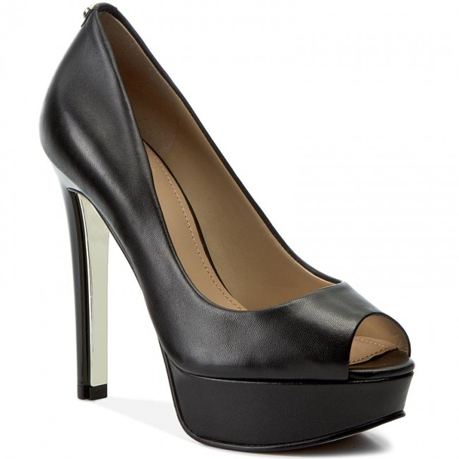 High Heels GUESS                                                      Heali FLHAL3 LEA07 BLACK 1116b5