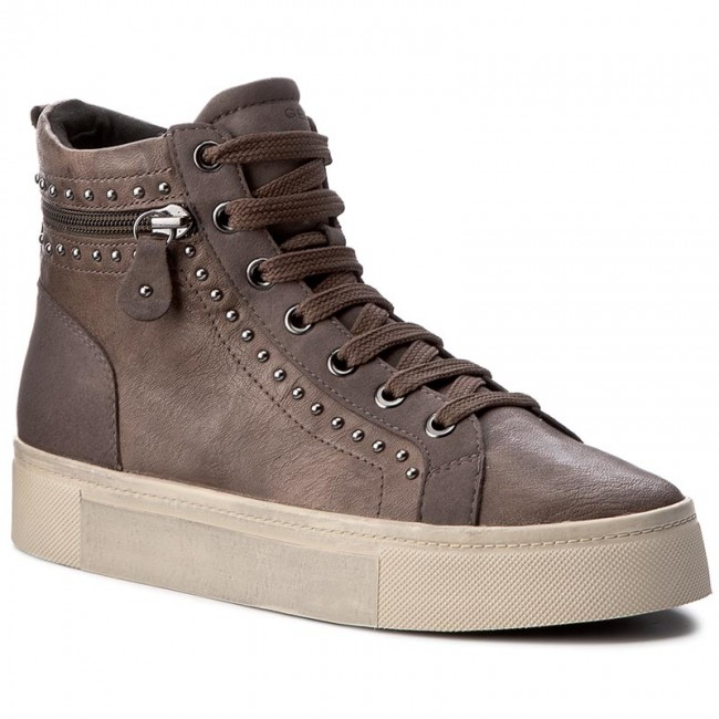 Sneakers GEOX-D Hidence A D7434A 0BTAF C6103 Taupe/Chestnut Werbe Schuhe