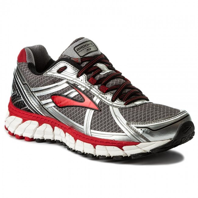 Schuhe BROOKS - Defyance 9 110214 1B 090 Charcoal/Silver/High Risk Red