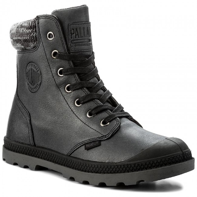 Trapperschuhe PALLADIUM-Pampa Hi Knit Werbe Lp 95172-036-M Black/Forged Iron Werbe Knit Schuhe dea017