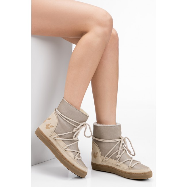 Schuhe INUIKII Sneaker Wedge Crystal 30135 Fabric Cream