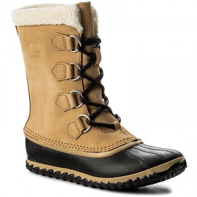 Schneeschuhe SOREL Caribou Slim NL2649 Curry/Black 373