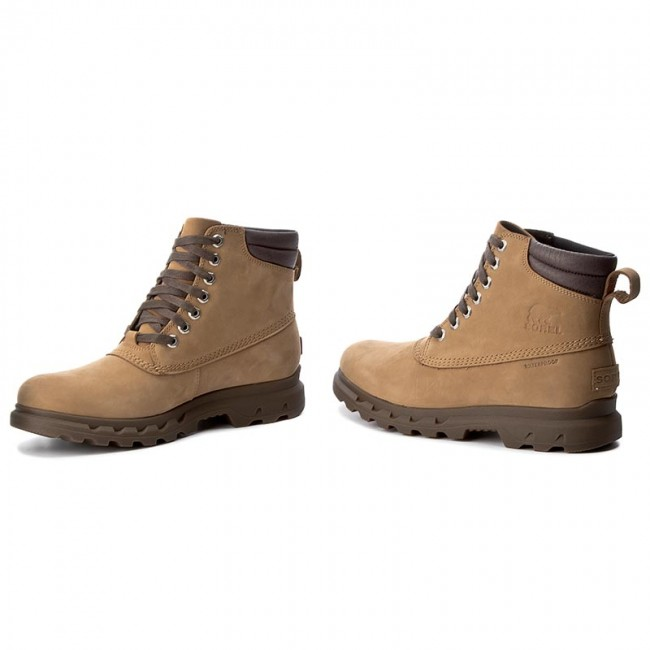 Trapperschuhe 281 SOREL-Portzman Lace NM2761 Buff/Hawk 281 Trapperschuhe 868067