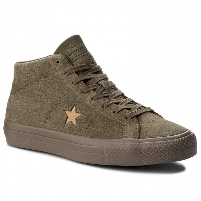 Sneakers CONVERSE-One Star Pro Mid 157869C Medium Olive/Light Fawn