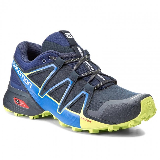 Schuhe SALOMON-Speedcross Vario 2 394524 27 V0 Navy Blazer/Nautical Blue/Lime Punch.