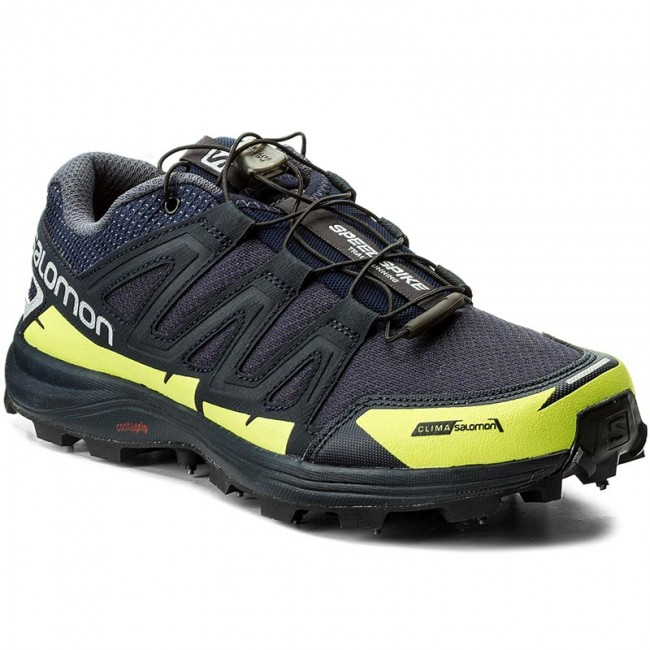 Schuhe SALOMON-Speedspike Cs 394475 27 W0 Navy Blazer/Reflective Silver/Lime Punch.