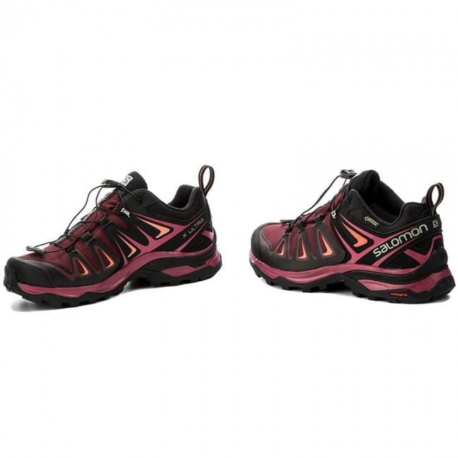 Trekkingschuhe SALOMON                                                      X Ultra 3 Gtx W GORE-TEX 398681 20 V0 Tawny Port/Black/Living Coral 8cd7fa