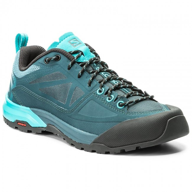 Trekkingschuhe SALOMON                                                    X Alp Spry W 398602 20 V0 Mallard Blue/Reflecting Pond/Blue Bird