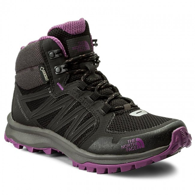 Trekkingschuhe THE NORTH FACE                                                    Litewave Fastpack Mid Gtx GORE-TEX T92Y8PRJS  Tnf Black/Wood Violet
