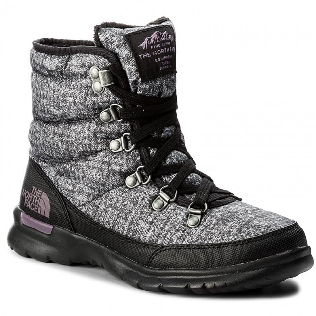 Schneeschuhe THE NORTH FACE-Thermoball Lace II T92T5LYSR Burnished Houndstooth Print/Black Plum Werbe Schuhe