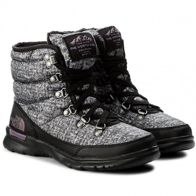 Schneeschuhe THE NORTH FACE - Thermoball Lace II T92T5LNSW Shiny TNF Black/Iron Gate Grey hjs0Fvy