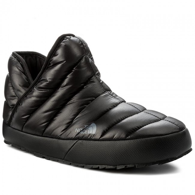 Hausschuhe THE NORTH FACE-Thermoball Traction Bootie T93MKHYXA Shiny Tnf Black/Dark Shadow Grey
