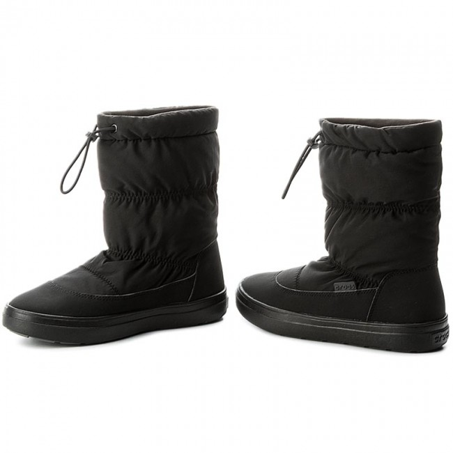 Schneeschuhe CROCS Lodgepoint Pull-On Boot 203422 Black