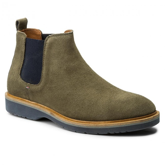 Stiefeletten TOMMY HILFIGER-Jacob Dusty 2B FM0FM01193 Dusty HILFIGER-Jacob Olive 011 f0ecc3