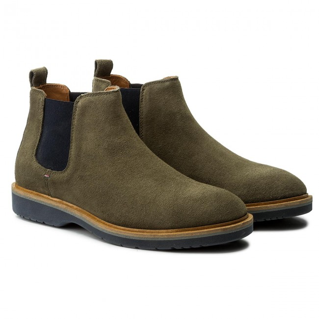 Stiefeletten TOMMY HILFIGER-Jacob Dusty 2B FM0FM01193 Dusty HILFIGER-Jacob Olive 011 3b44df