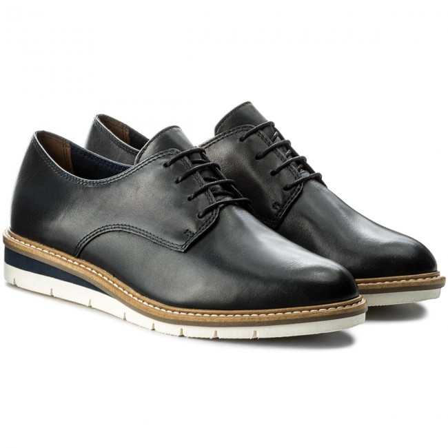 Oxfords Leather TAMARIS  1-23202-20 Navy Leather Oxfords 848 fb4371