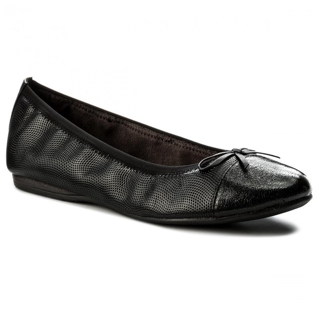Ballerinas TAMARIS  1-22129-20 Black Struct. 006