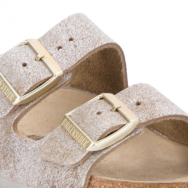 Pantoletten BIRKENSTOCK                                                      Arizona Bs 1008796 Washed Metallic Blau Silver 2ad3bd