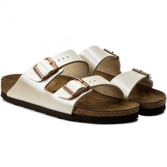 Pantoletten BIRKENSTOCK                                                    Arizona Bs 1009921  Graceful Pearl White