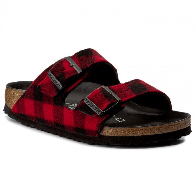 Pantoletten BIRKENSTOCK - Arizona 1001210 Check Red/Black