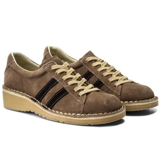 Halbschuhe FLY Taupe/Navy LONDON  Cammfly P210964007 Taupe/Navy FLY 096938