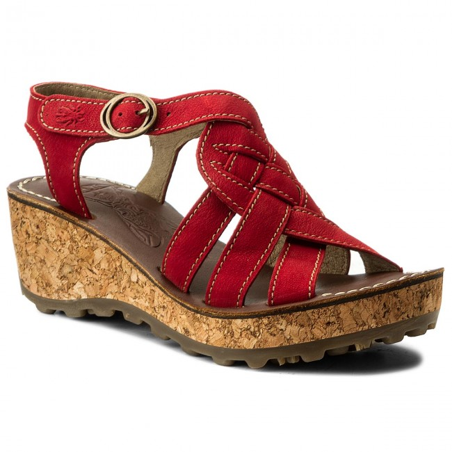 Sandalen FLY LONDON Grin Low P142735029 Lipstick Red