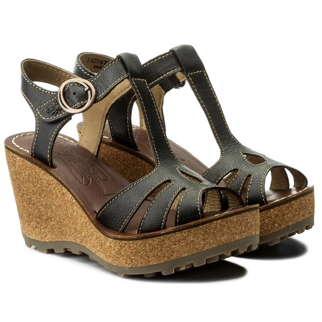 Sandalen FLY LONDON                                                      Gold P142167050 Black eebeea