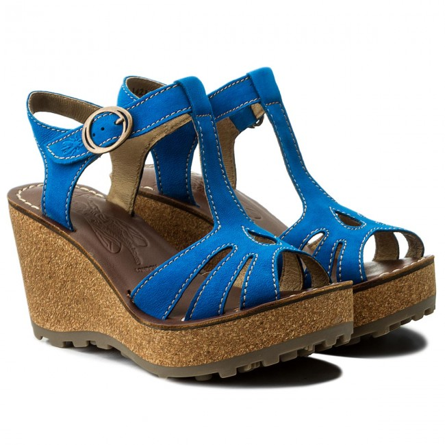 Sandalen P142167053 FLY LONDON-Gold P142167053 Sandalen Electric Blue Werbe Schuhe e06da0