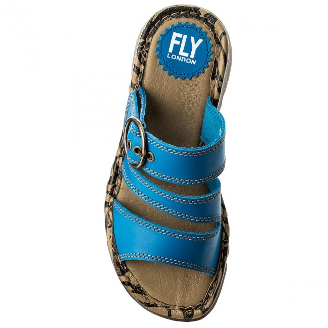 Pantoletten FLY  LONDON     FLY                                                Theafly P500724011 Electric Blue 8dbd9d