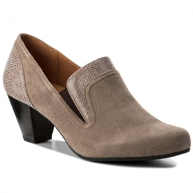 Halbschuhe CAPRICE 9-24404-29 Taupe Suede Co 385