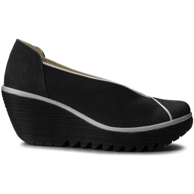 Halbschuhe FLY LONDON LONDON FLY Yucafly P500839000 Black/Offwhite a68680
