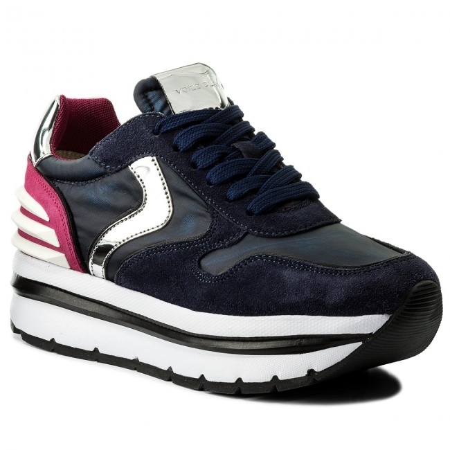 Sneakers VOILE BLANCHE-May Power 0012012434.05.9143 Blu/Fuxia Werbe Schuhe
