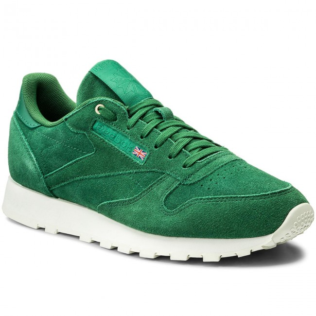Schuhe Reebok-Cl Leather Mcc CM9607  Fern Green/Chalk