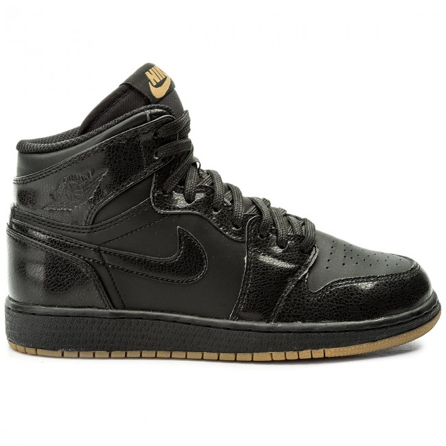 Schuhe NIKE  Air Jordan 1 Retro High Og Bg Bg Bg 575441 020 Black/Black Gum/Light Brown cee48c