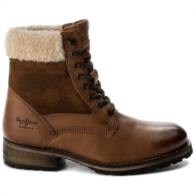 Trapperschuhe PLS50291 PEPE JEANS Melting Camu PLS50291 Trapperschuhe Nut Brown 877 442c7b