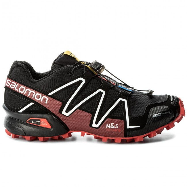 Schuhe SALOMON-Spikecross 27 3 Cs 383154 27 SALOMON-Spikecross G0 schwarz/Radiant ROT/Weiß 4d9345