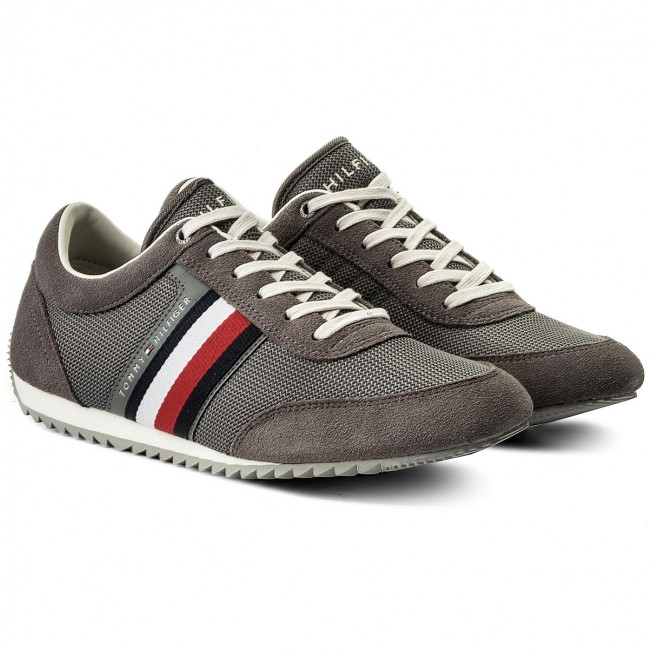 Sneakers TOMMY HILFIGER-Corporate Material Mix 039 Runner FM0FM01314 Steel Grau 039 Mix 41ab90