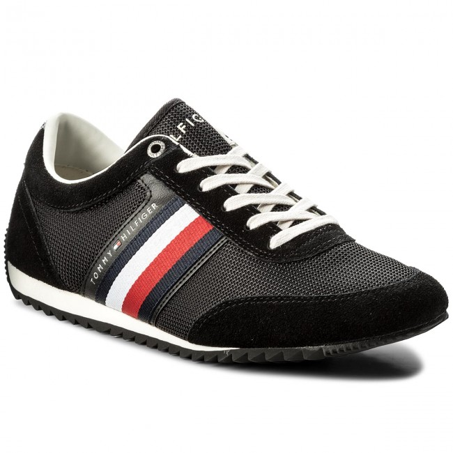 Sneakers TOMMY HILFIGER-Corporate Material Mix Runner FM0FM01314 Black 990