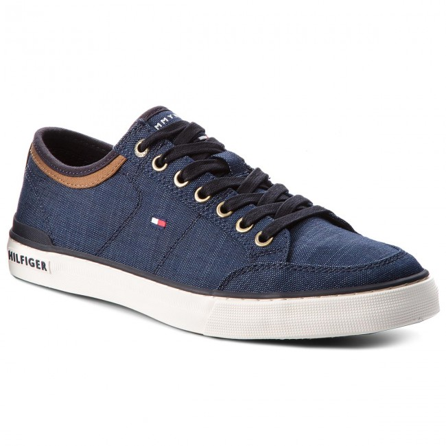 Sneakers TOMMY HILFIGER-Core Material Mix Sneaker FM0FM01332 Midnight 403