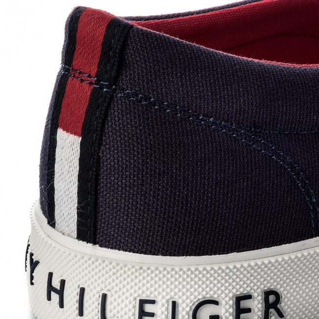 Turnschuhe TOMMY HILFIGER-Heritage Textile Slip Slip Slip On TurnschuheFM0FM01359 Tommy Navy 406 47dc0f