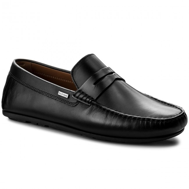 Mokassins TOMMY HILFIGER-Classic Leather Penny Loafer FM0FM01167 Black 990
