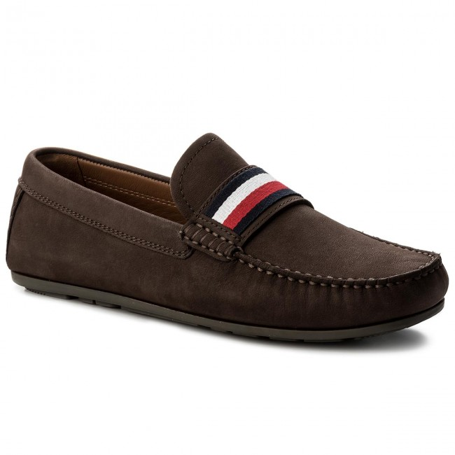 Mokassins TOMMY HILFIGER-Corporate Tape Loafer FM0FM01247 Coffee Bean 212