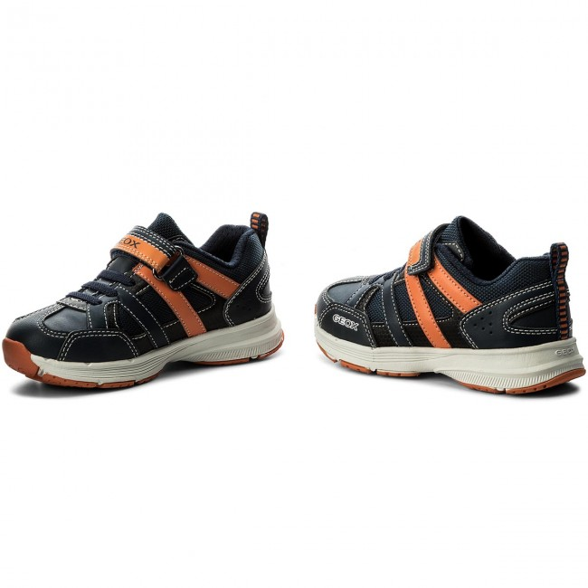 Halbschuhe GEOX - J Top Fly B. A J743UA 0BU11 C0659 S Navy/Orange t1ObC8