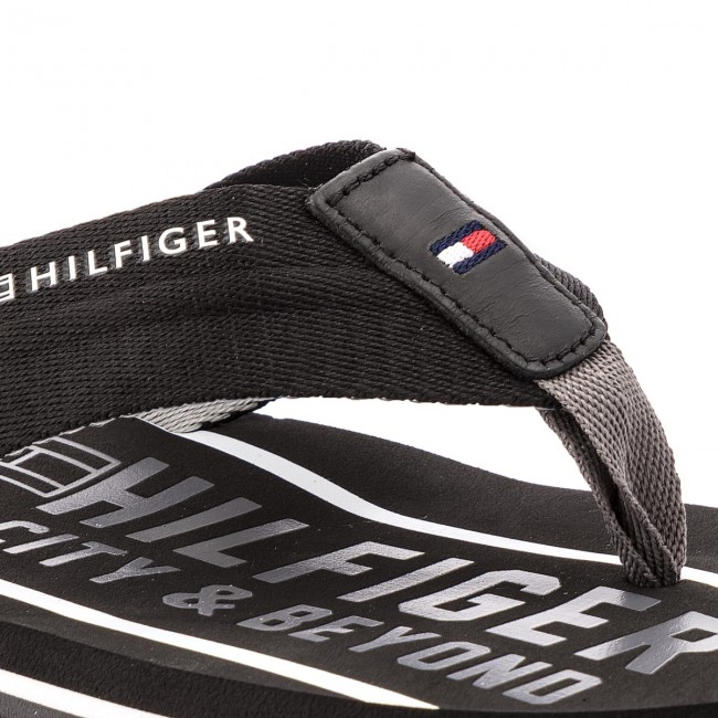 Zehentrenner TOMMY HILFIGER - Smart Th Beach Sandal FM0FM01371 Black 990 x1V92LGH