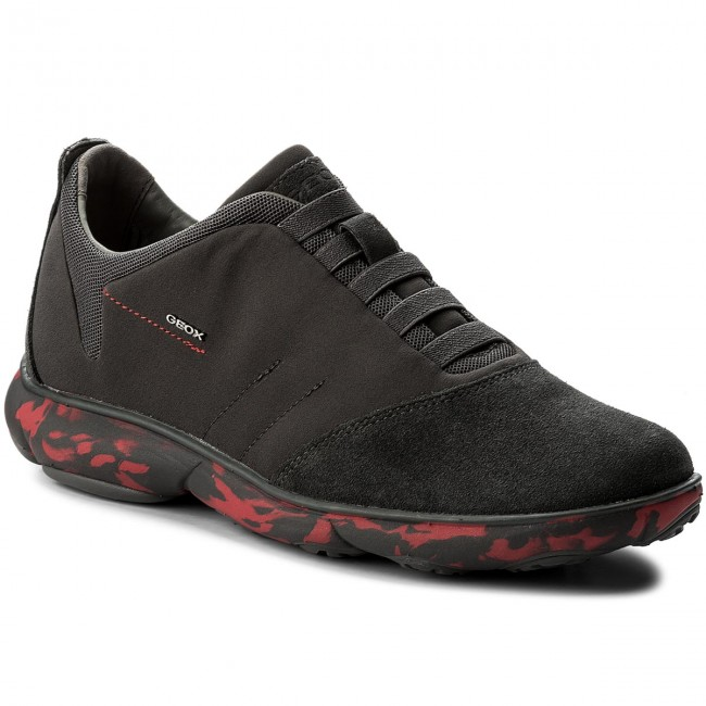 Halbschuhe GEOX-U Nebula B U52D7B 01122 Grey/Red C0047 Dk Grey/Red 01122 e09357