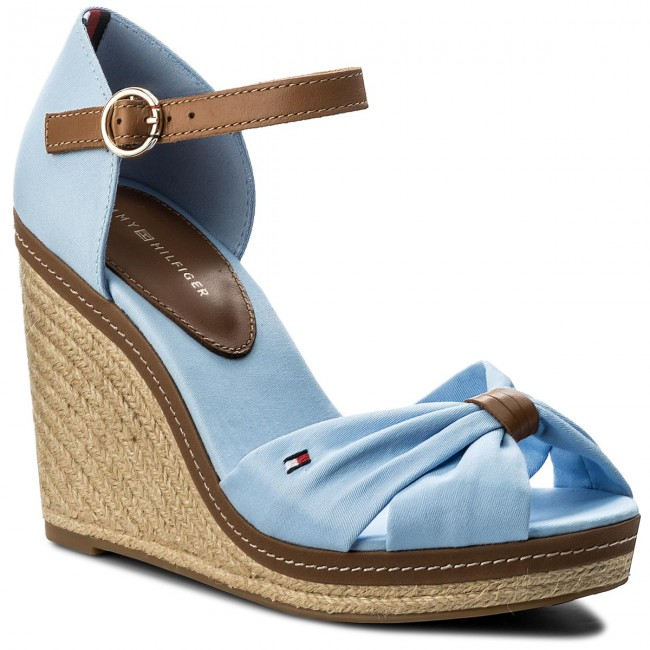 Espadrilles TOMMY HILFIGER-Iconic Elena Sandal FW0FW00905  Chambray Blue 407 Werbe Schuhe