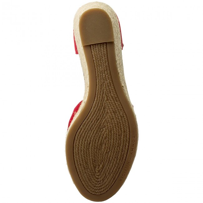 Espadrilles TOMMY  HILFIGER     TOMMY                                                Iconic Elba Sandale FW0FW00906 Tango ROT 611 81339e